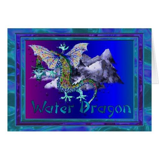 Dragón de agua felicitacion