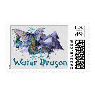 Dragón de agua timbres postales
