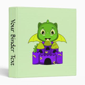 Dragón de Chibi con un castillo amarillo y púrpura