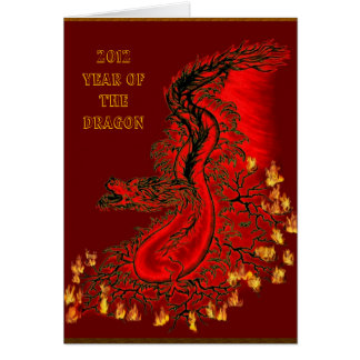 dragón de China - 2012 - Year Of The Dragon Tarjetón