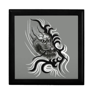 Dragón de China en estilo del tatuaje Caja De Joyas