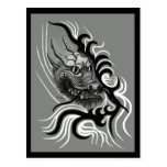 dragón de China en Tattoo Style Postal