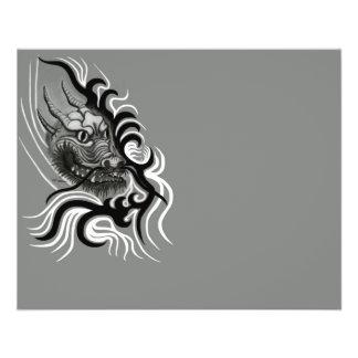 "Dragón de China en Tattoostyle Folleto 4.5"" X 5.6"""