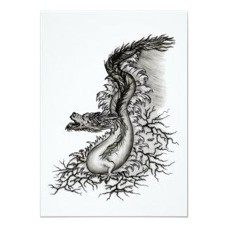 """dragón de China Invitación 5"""" X 7"""""""