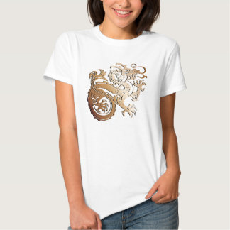 Dragón de cobre - camiseta 2 playera