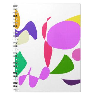 Dragón de encargo de la flor del color de fondo libreta