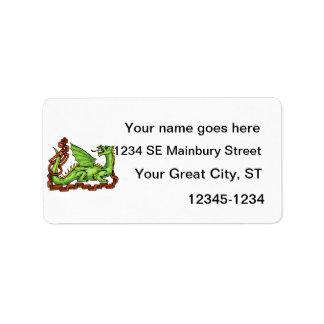 Dragón de estilo celta y rope.png etiquetas de dirección