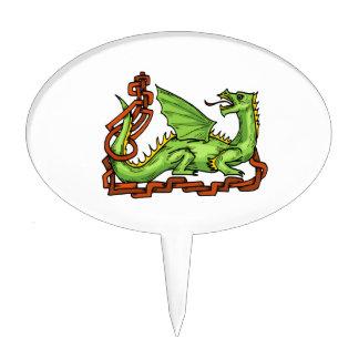 Dragón de estilo celta y rope.png figura de tarta
