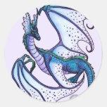 Dragón de Fariy Etiqueta Redonda