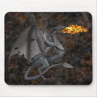 Dragón de Fuego-Respiración Alfombrilla De Ratones