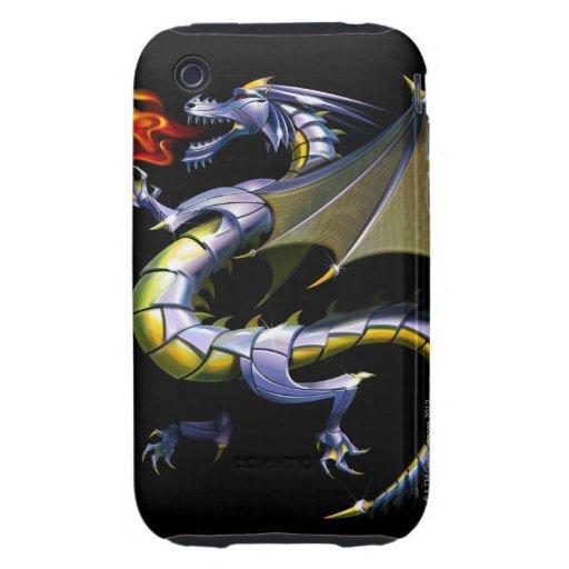 dragón de Fuego-respiración iPhone 3 Tough Protectores