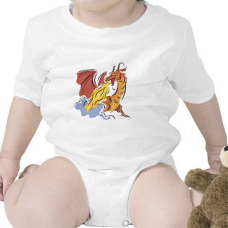 dragón de fuego-respiración rojo trajes de bebé