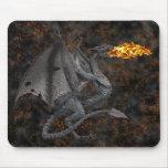 Dragón de Fuego-Respiración Alfombrillas De Ratones