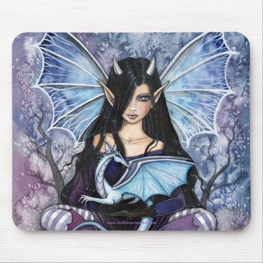 Dragón de hadas gótico Mousepad por Molly Harrison Alfombrilla De Raton