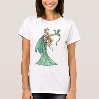 Dragón de hadas verde de la disciplina por Molly Playera