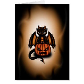 Dragón de Halloween Tarjeton