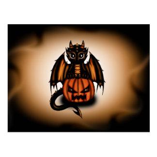 Dragón de Halloween Tarjetas Postales