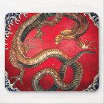 Dragón de Hokusai Alfombrilla De Ratón
