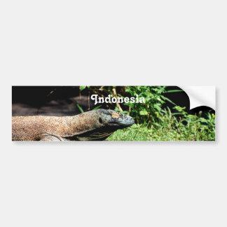 Dragón de Indonesia Komodo Pegatina De Parachoque