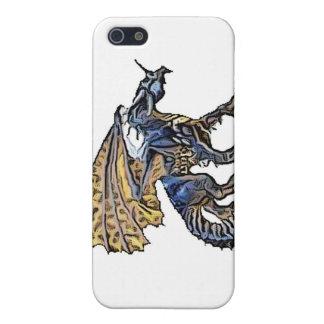 dragón de iPhone4-Blue iPhone 5 Carcasas