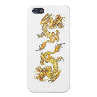 dragón de iPhone4-Double de oro iPhone 5 Funda
