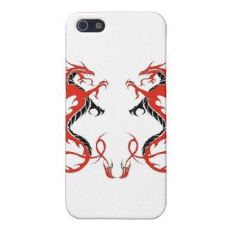 dragón de iPhone4-Double rojo y negro iPhone 5 Funda