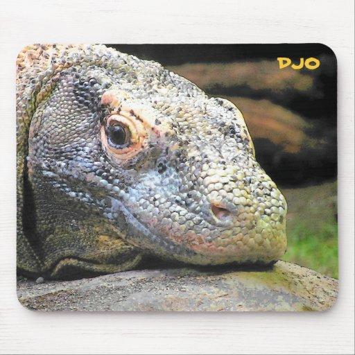 Dragón de Komodo Alfombrillas De Ratones