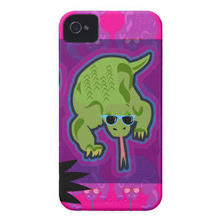 Dragón de Komodo de neón del asesino iPhone 4 Case-Mate Cárcasas