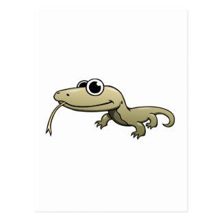 Dragón de Komodo del dibujo animado Postales