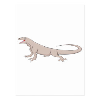 Dragón de Komodo feliz Postales