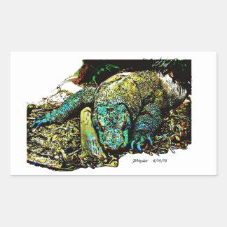 Dragón de Komodo Pegatina Rectangular