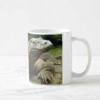 Dragón de Komodo Taza Básica Blanca