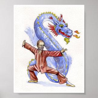 Dragón de Kung Fu Póster