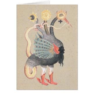 Dragón de la alquimia tarjeta de felicitación