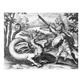 Dragón de la alquimia tarjetas postales