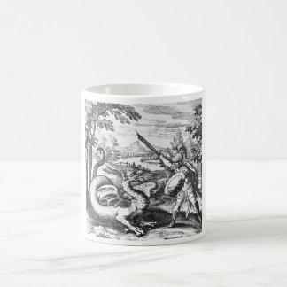 Dragón de la alquimia taza clásica
