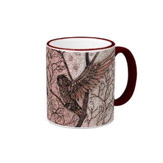 Dragón de la basura de Talkin y taza de café del