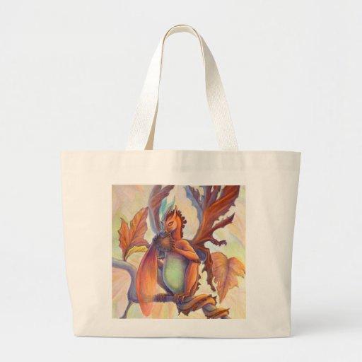 Dragón de la hada de la hoja de arce bolsas de mano