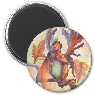 Dragón de la hada de la hoja de arce imanes