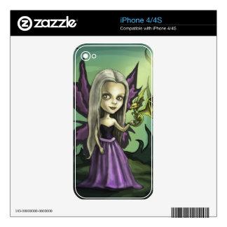 Dragón de la hada y del bebé de Gorhic iPhone 4 Skins