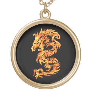 Dragón de la llama colgante redondo