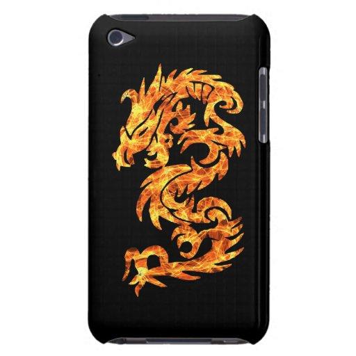 Dragón de la llama iPod touch fundas