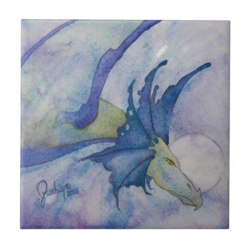 Dragón de la luna azulejos ceramicos