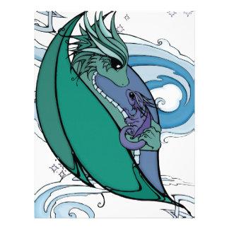 dragón de la madre y del bebé plantillas de membrete