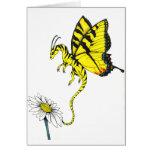 Dragón de la mariposa tarjeta