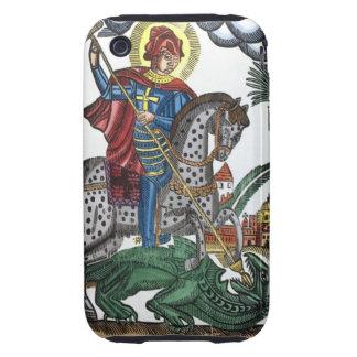 Dragón de la matanza de San Jorge Tough iPhone 3 Cárcasas