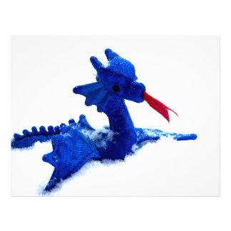 Dragón de la nieve plantilla de membrete