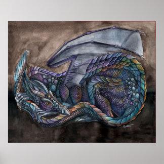 Dragón de la obsidiana del arco iris de Portia St  Póster