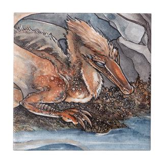 Dragón de la orilla azulejos