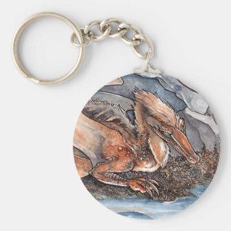 Dragón de la orilla llavero redondo tipo pin
